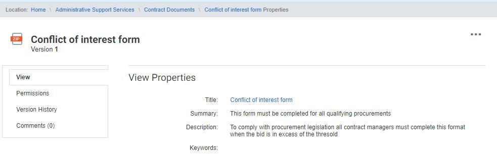 Xerox DocuShare properties